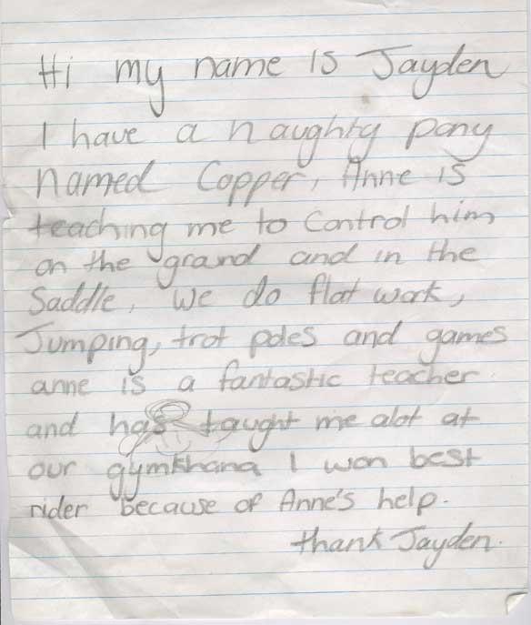 Jayden letter
